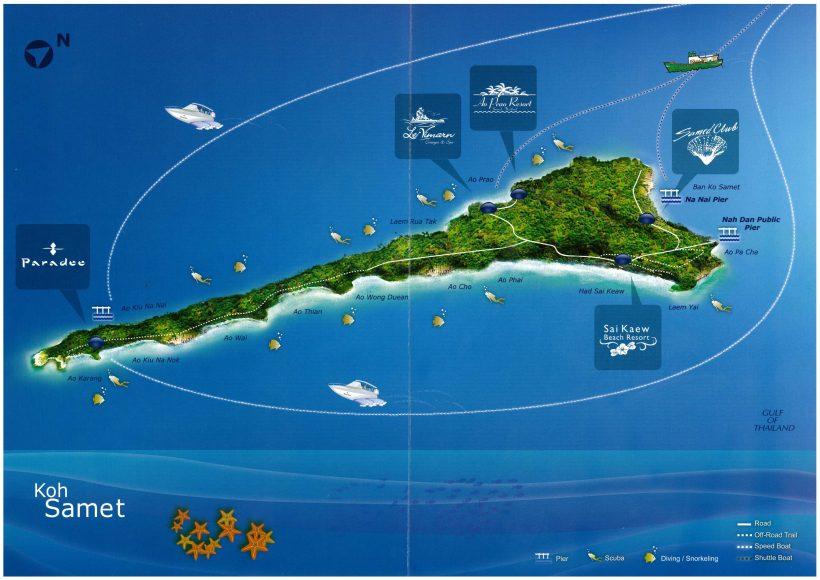 Map Samet Island